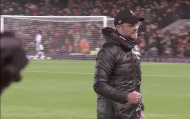 (Video) Klopp's reaction to Mane's goal vs. Palace sums up how all Reds were feeling