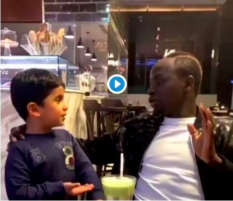 (Video) Sadio Mane goes viral after beautiful exchange with young fan