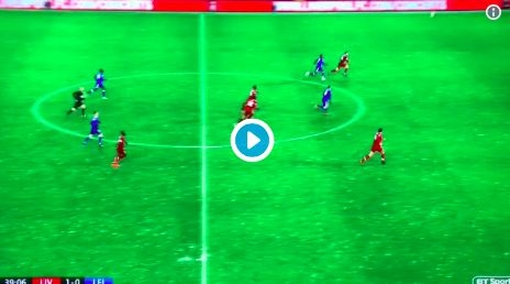 (Video) Alisson plays sweeper keeper to earn throw-in near Leicester byline