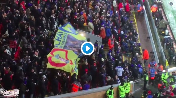 (Video) Lovely moment between Liverpool & Leicester fans before K.O last night
