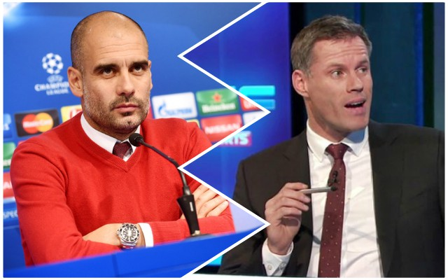 Carra explains the title race advantage Liverpool have over Manchester City