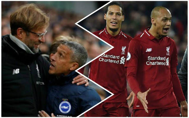 Klopp heaps praise on 'brilliant' Reds player after Brighton heroics