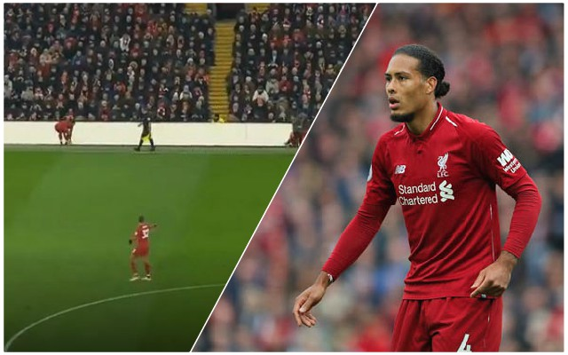 (Video) Van Dijk produces hilarious piece of skill as Reds beat Crystal Palace