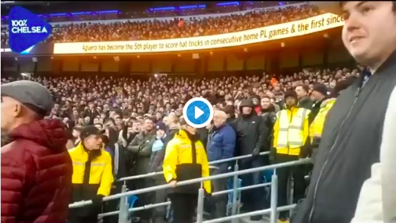 (Video) Chelsea fan's behaviour at Etihad is most embarrassing thing we've ever seen