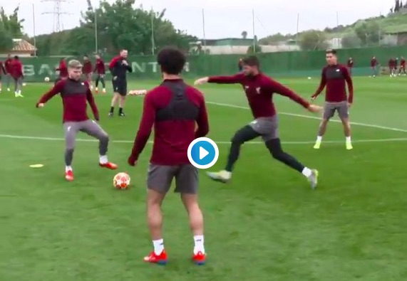 (Video) Klopp finds Fabinho's no-look interception hilarious