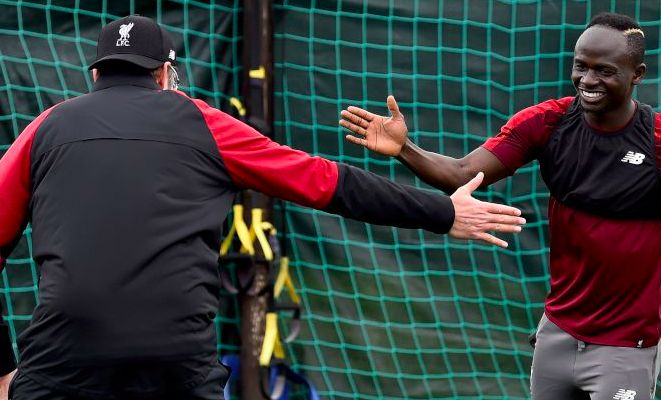 (Video) Watch dream team of Mane & Klopp take on Lijnders & Firmino in foot-tennis