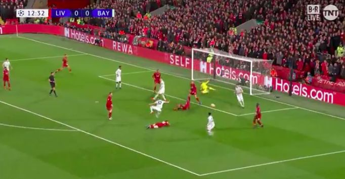 (Video) Alisson saves Matip's blushes with point-blank save he knew nothing about