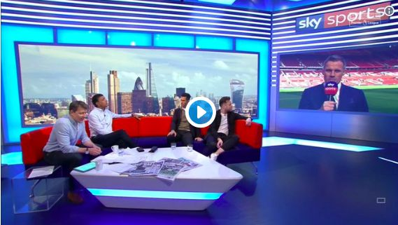 (Video) Carra mocks United after rumours Fergie will do team-talk v Liverpool