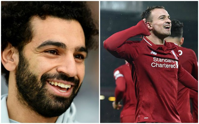 Salah copied Shaqiri's celebration and Reds are absolutely loving it