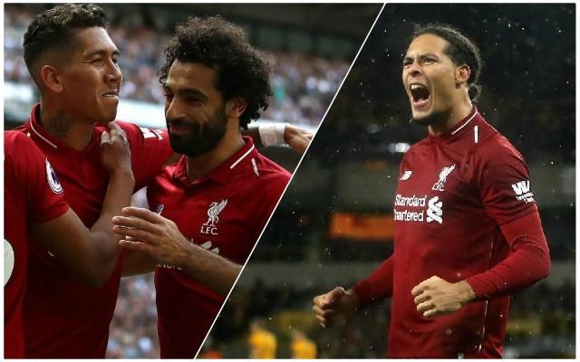 Look when Virgil starts celebrating Salah's goal…