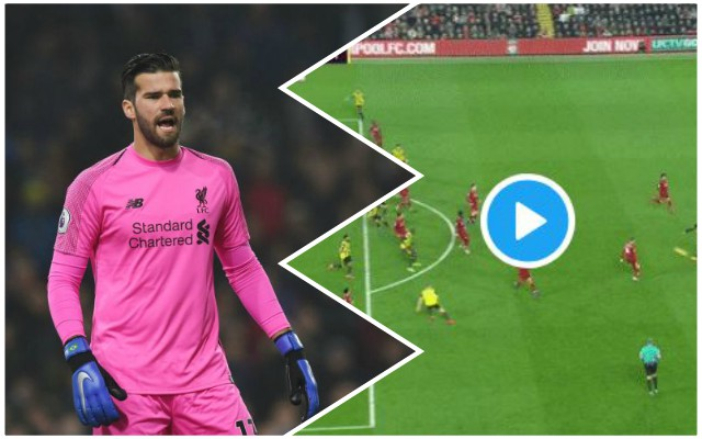 (Video) Alisson makes unreal save to underline his world-class ability
