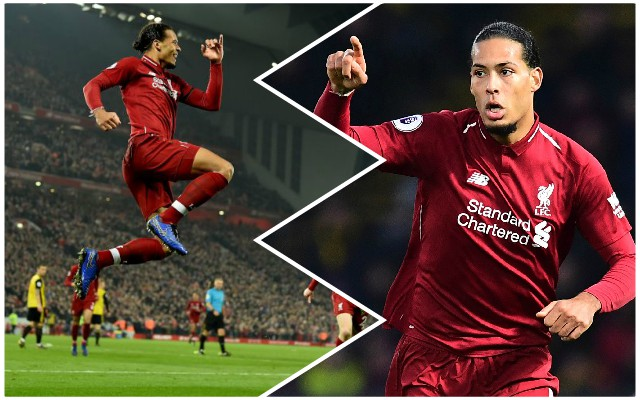 'Very nice!': Virgil van Dijk reacts to his double against Watford