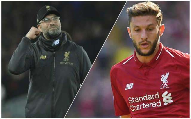 Liverpool starting XI v Fulham: Lallana returns for important clash