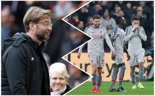 'Huge opportunity missed': Reaction to LFC's draw at West Ham