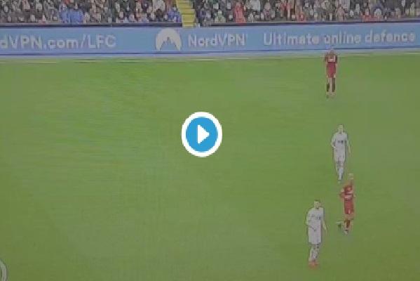 (Video) Extreme wind makes it look like Salah has mind-control ball skills