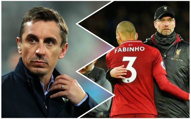 Gary Neville makes ludicrous suggestion about Liverpool's upcoming fixtures