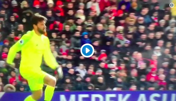 (Video) Alisson does best to give LFC fans heart-attack & Klopp doesn't rate it