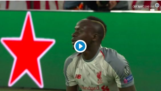 (Video) Mane's insane touch & finish past Neuer is Bergkamp-esque; LFC fans go crazy