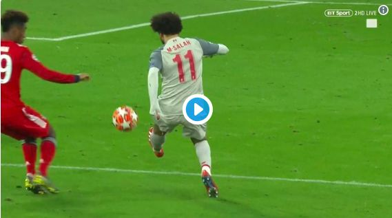 (Video) Mo Salah's assist for Mane's 2nd is beautiful as Bayern battered