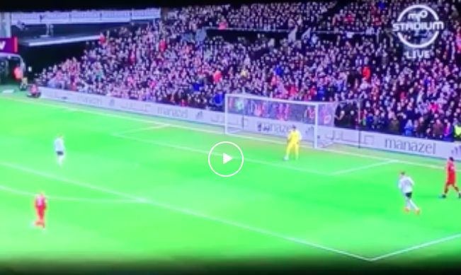 (Video) Watch Alisson's cheeky fake on Mitrovic