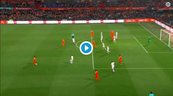 (Video) Van Dijk b*llocks Depay, then scores anyway for Netherlands