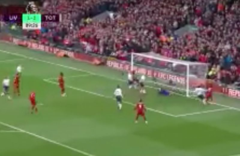 (Video) – Late drama as Salah's header turned in by Spurs for 2-1