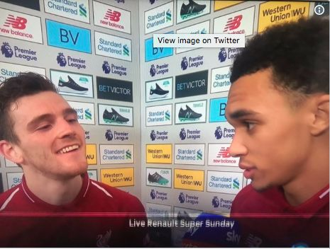 (Video) – Robbo can barely hold back laughter as Trent tries to deadpan interview question