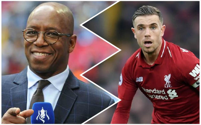 Ian Wright takes unnecessary sly dig at Jordan Henderson