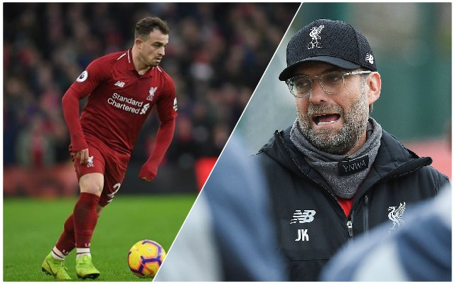Klopp: Why Shaqiri hasn't featured much recently