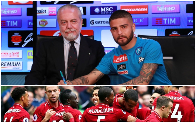 "Napoli club president claims that Liverpool target ""Insigne isn't on the market"""