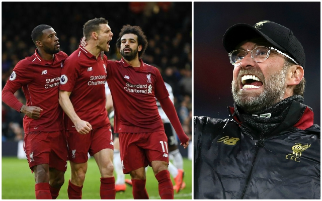 "Klopp ""sure we would not panic"" after Liverpool beat Fulham on Sunday"