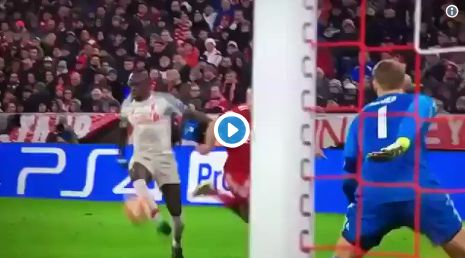 (Video) Best angle shows how badly Sadio Mane actually ruined Neuer