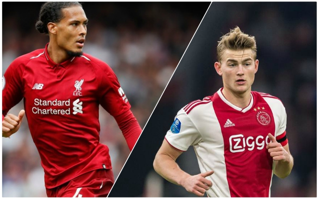 Van Dijk challenges De Ligt to improve 'in everything'