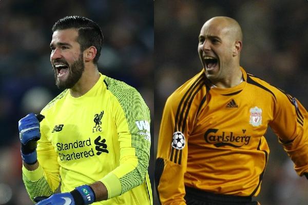 Pepe Reina urges Alisson to break Man United legends' records