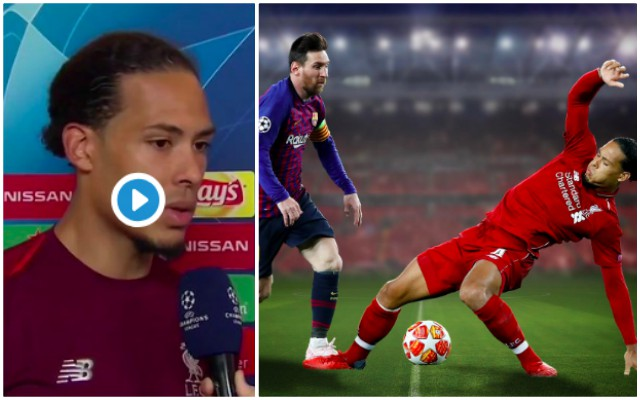 (Video) Van Dijk on how LFC will deal with Lionel Messi