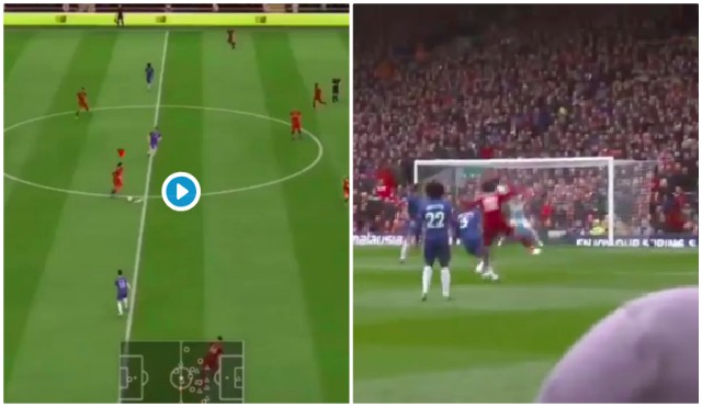 (Video) Fan perfectly remakes Mo Salah's iconic blast v Chelsea on FIFA