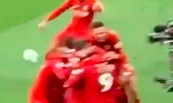 (Video) Van Dijk hoofed the ball out of Anfield when we scored winner