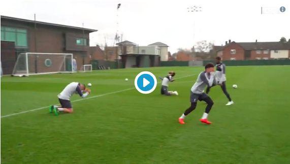 (Video) Liverpool's crossbar challenge sees Lovren school Salah