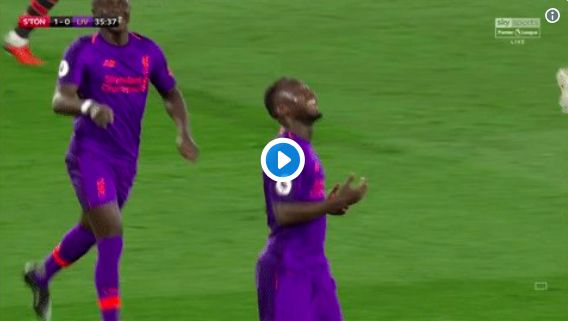(Video) Look at Keita's sheer relief when celebrating 1st LFC goal