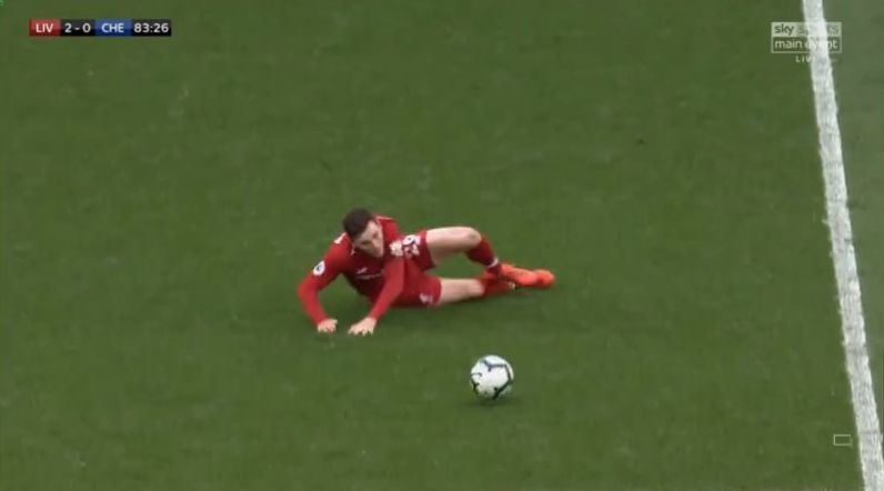 (Video) – Klopp's brilliant reaction to Robbo's 2nd half slip v Chelsea