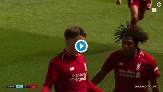 (Video) Bobby Duncan's 25-yarder helps Liverpool U18s beat City to win FA Youth Cup