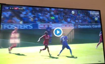 (Video) Alisson's quick reflexes deny Niasse overhead kick goal