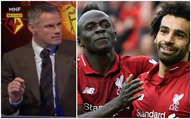 Jamie Carragher makes massive claims about Sadio Mané and Mohamed Salah