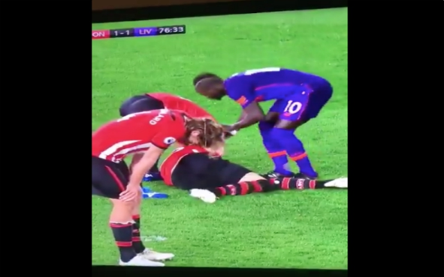 (Video) – No love lost as Yoshida almost kicks off at Mané