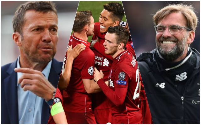 "Matthäus claims Liverpool are ""personal favourite"" for Champions League trophy"