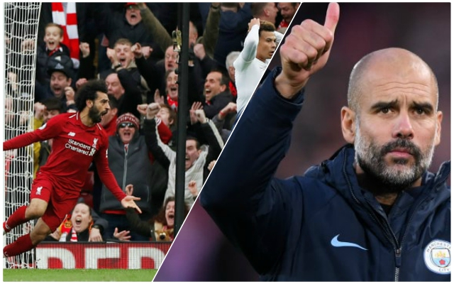 "Guardiola's praise of Liverpool undermines City fans' ""lucky"" jibes"