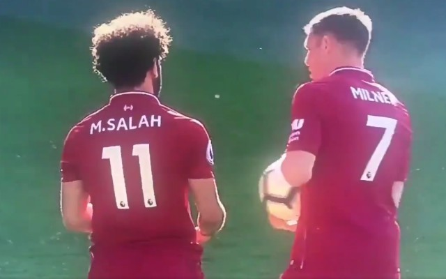 (Video) – Salah reluctant to give up penalty until Milner takes one for the team