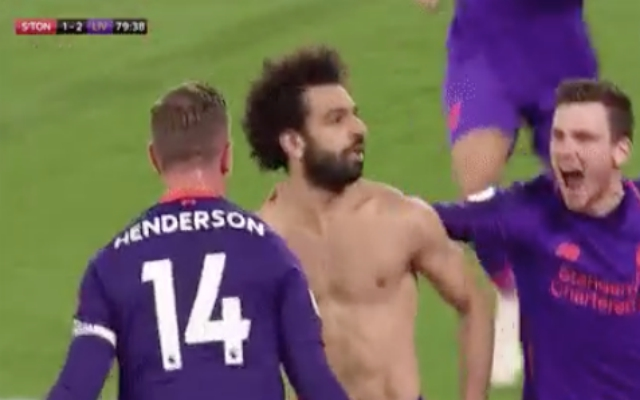 (Video) – Untouchable Salah sells Hendo and Robbo a celebratory dummy