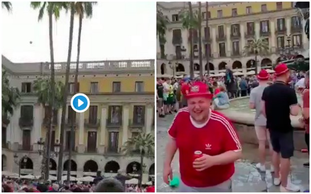 (Video) Idiot LFC fans embarrasses club by abusing old man in Barcelona