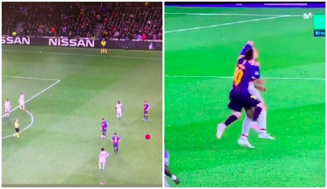 (Video) Messi jumped into Fabinho to win freekick; then moved it 5-yards closer